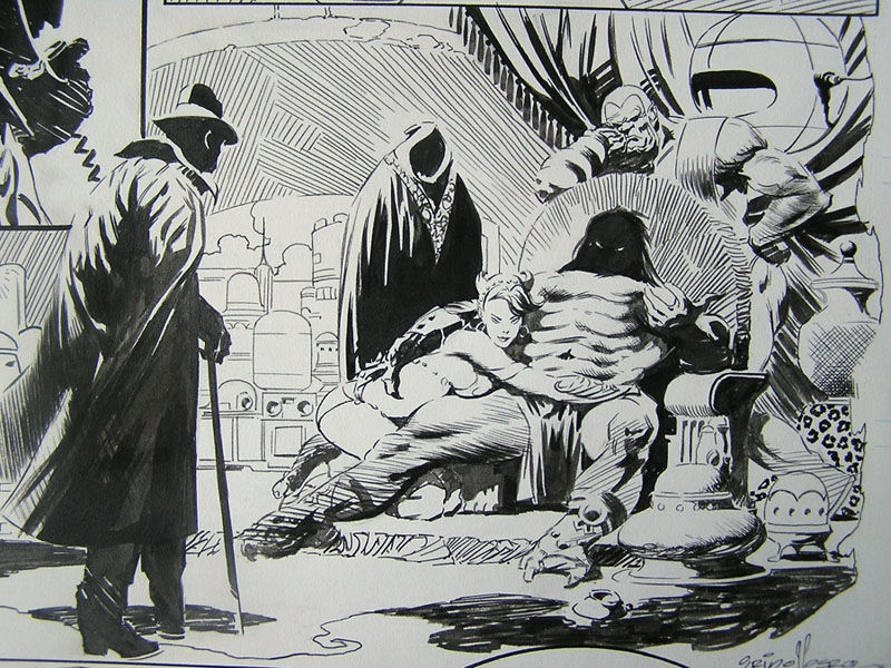 Tom Grindberg for Frank Frazetta Fantasy Illustrated magazine -DETAIL Comic Art
