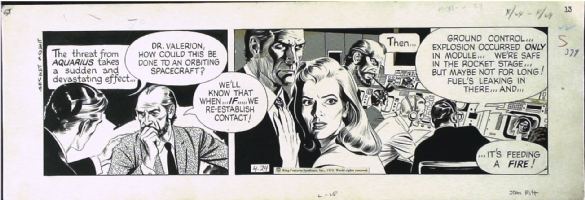SECRET AGENT CORRIGAN STRIP BY STANLEY  PITT 4-24-72 Comic Art