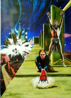 Science Fiction cover painting by Stanley Pitt Comic Art