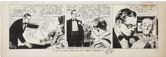 ALEX RAYMOND RIP KIRBY STRIP 10-22-48 Comic Art