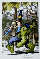 TRIMPE & GERHARD - Hulk #181 Tribute (Hulk vs. Wolverine) Comic Art