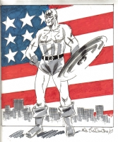 Bellman, Allen Captain America 2007 Comic Art