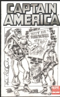 Bellman, Alan Captain America and Bucky cover sketch Comic Art