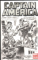 Bellman, Allen Captain America and Namor the Sub-Mariner 2012 Sketch cover Comic Art