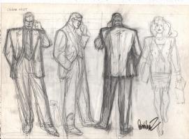 Garcia-Lopez, Jose Luis Clark Kent-Lois Lane Turnaround Comic Art