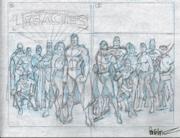 Garcia-Lopez, Jose Luis Legacies cover prelims Comic Art