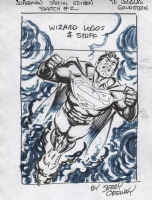 Ordway, Jerry Superman Wizard Magazine prelims, Comic Art