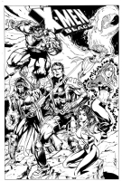 X-men Black, Comic Art