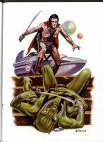 Roland, Harry -- John Carter Comic Art