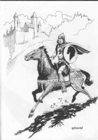 Roland, Harry -- Prince Valiant in ink Comic Art