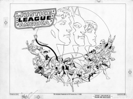 Garcia-Lopez, Jose Luis --  DC Comics Style Guide  -- JLA (original) Comic Art