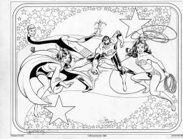 Garcia-Lopez, Jose Luis --  DC Comics Style Guide  -- JLA (Modern) Comic Art