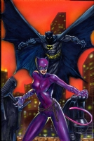 Phillips, Joe -- Batman & Catwoman Comic Art