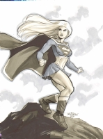Supergirl by Scott Dalrymple with muted colors Comic Art