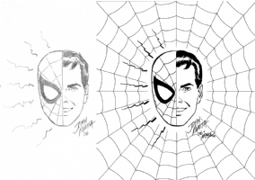 Spider-man / Peter Parker by John Romita Sr & Bob McLeod Comic Art