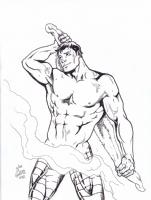 Colossus Beefcake! - Joe Phillips Comic Art