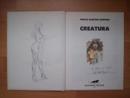 Paolo Eleuteri Serpieri ,Druuna sketch Comic Art