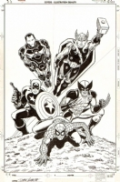 Avengers #1 Variant Cover (The Heroic Age - 2010),John Romita Sr. Comic Art