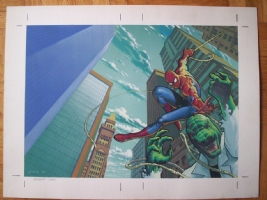 Spider-man vs Lizard, Cover, Esad Ribic Comic Art