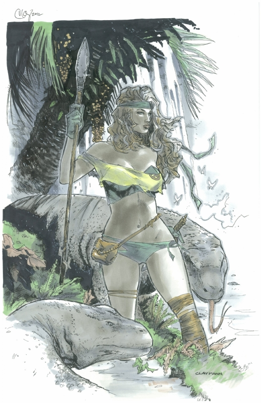 Clay Mann - Savage land Rogue  Comic Art
