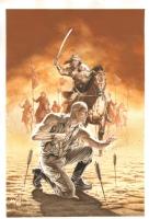 Doc Savage #17 Painted Cover - Genghis Khan & Self Portrait - 2011 Signed art by J.G. Jones Comic Art