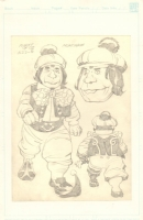 Munchkin Design Pencil Drawing for The World's Greatest SuperFriends: The Planet of Oz - 1979 art by Jack Kirby Comic Art