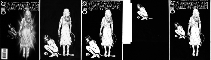 catwoman comic covers. Catwoman 81 cover restoration