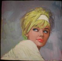 female portrait (1970) Comic Art