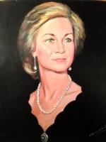 Portrait of queen Sofia, by Antonio Bernal Comic Art