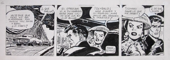 Frank Robbins tribute strip, by Antonio Bernal Comic Art
