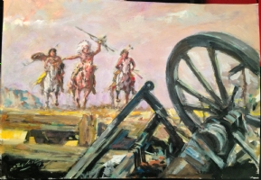 Western Illustration. The aftermath. Bernal late art Comic Art