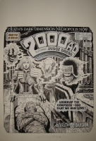 2000AD PROG 418 ORIGINAL COMIC COVER ART BY ROBIN SMITH Comic Art