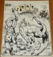 2000AD PROG 185 ORIGINAL COVER ART Comic Art