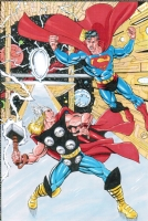Superman VS Thor Comic Art