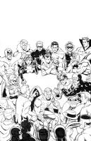 JLA/Avengers page 27 Comic Art