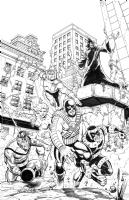 JLA/Avengers page 25 Comic Art
