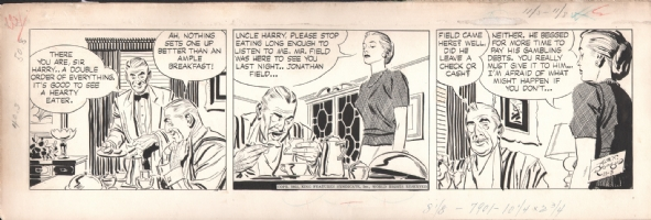 Alex Raymond - Rip Kirby 52-11-03 Comic Art