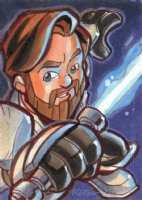 Andrews - Obi Wan Kanobi Comic Art