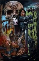 Bisley - Black Death movie poster, Comic Art