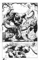 Bisley - Death Dealer Half Splash, Comic Art
