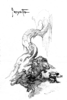 Frazetta - John Carter Gods of Mars Illustration Prelim, Comic Art