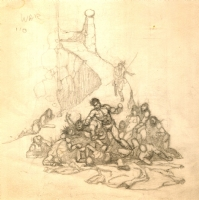 Frazetta - John Carter Warlord of Mars Illustration Prelim, Comic Art