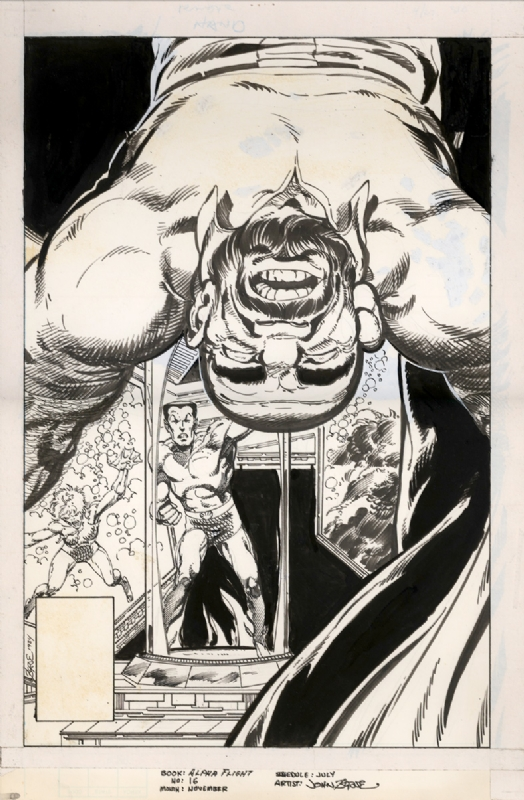 Alpha Flight #16 Unpublished COVER - John Byrne Comic Art