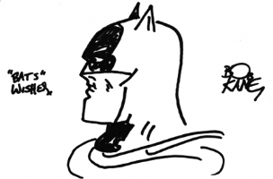 Batman Sketch - Bob Kane Comic Art
