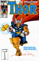 Thor 338 imaginary cover featuring Beta Ray Bill by Walt Simonson and Gerry Turnbull Comic Art