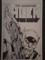 Wolverine v. Godzilla Hulk #340 McFarlane cover swipe by Trimpe Comic Art
