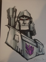Megatron by Matt Fletcher Comic Art