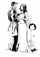 Snow White and Bigby Wolf Valentines Day Commission Comic Art