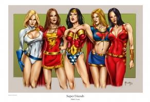 Super Friends Comic Art