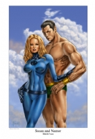 Susan and Namor Comic Art